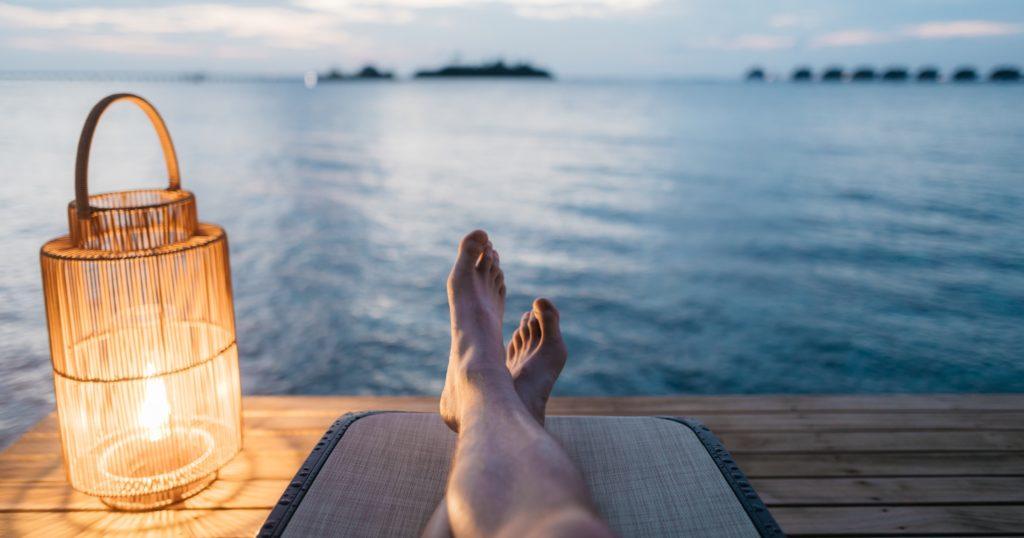 unproduktiv sein und entspannen