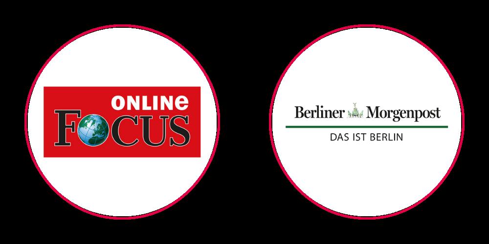 Logos Focus online & Berliner Morgenpost