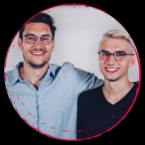 Jacob und Julian Drachenberg - rundes Bild